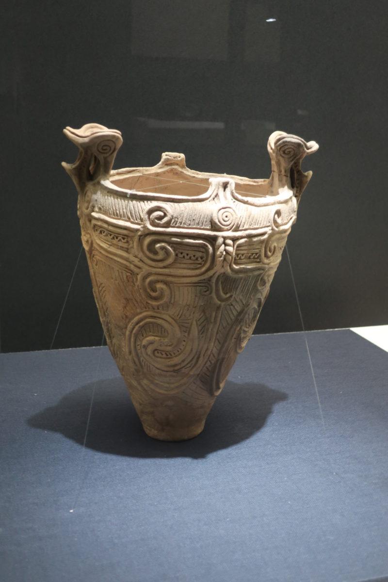 双耳深鉢 縄文時代中期 長野県山形村