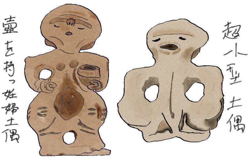 岡谷美術考古館の土偶たち